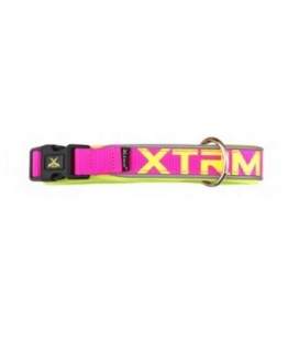 Collar X-TRM Nylon para Perro Color Rosa Neón