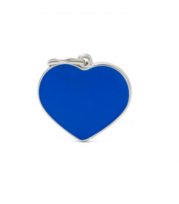 My Family-Basic Handmade Heart Grande Azul (1)