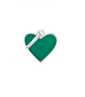 Basic Handmade Heart Small Green (1)