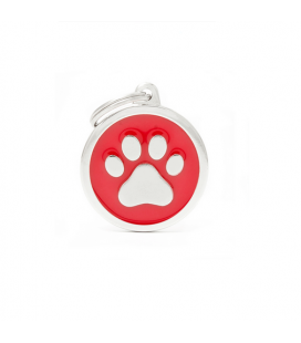 Red Big Circle Paw