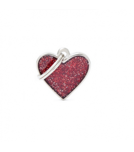 Heart MY FAMILY Glitter Red