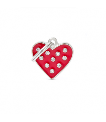 My Family-Red Heart Strass (1)