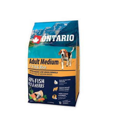 Ontario-Superpremium Adult Medium 7 Pescados y Arroz (1)