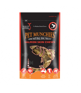 Snack Naturales Salmón Skin Chews Medium para Perro (1)