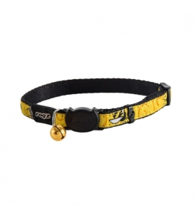 Collar Nylon Estampado Amarillo para Gato