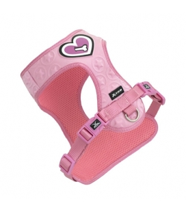 Arnes 3D hearts of bone Rosa para Perro