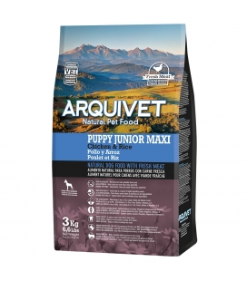Arquivet Puppy Junior Maxi / Pollo y Arroz Natural Dog Food