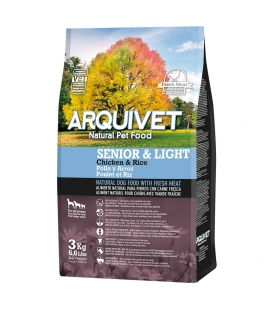 Arquivet Senior & Light / Pollo y arroz Natural Dog Food