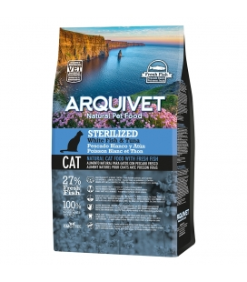 Arquivet Arquivet Cat Sterilized White Fish & Tuna Natural Cat Food