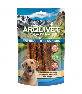 Arquivet Twist de conejo enrollado Natural Dog Snacks