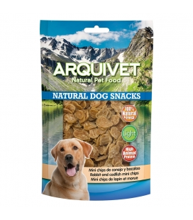 Arquivet Mini Chips de conejo y bacalao Natural Dog Snacks