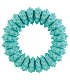 Trixie Anillo Denta Fun, Caucho Natural, Menta, 9 cm, ø12 cm