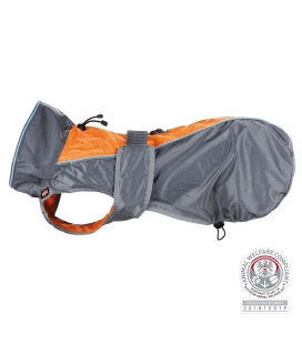 Trixie Impermeable Solid, XS, 30 cm, Gris-Naranja