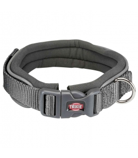 Trixie Collar NEW Premium, Neopreno, M, 35–40 cm/25 mm, Grafito