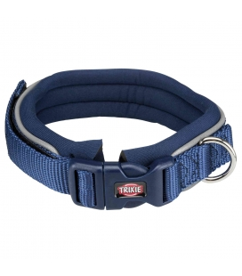 Trixie Collar NEW Premium, Neopreno, L, 48–55 cm/30 mm, Añil