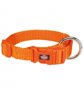 Trixie Collar Premium, S–M, 30–45 cm/15 mm, Papaya